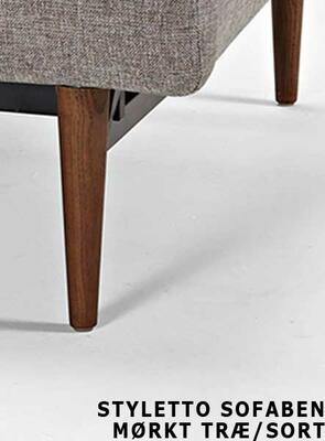 SP chair legs STYLETTO HL, dark wood -without mattress