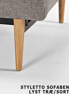 SP chair legs STYLETTO HL, light wood -without mattress