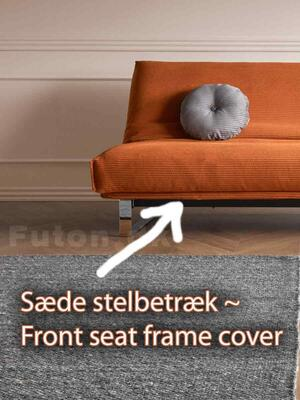 Front seat frame cover 140 for 7-in-1 sofa