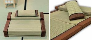 Folding Tatami of memory foam + pillow