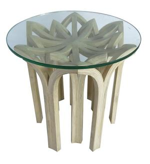 Coffee table made from Thai Bamboo (dendrocolamus asper – pole) with glass top.