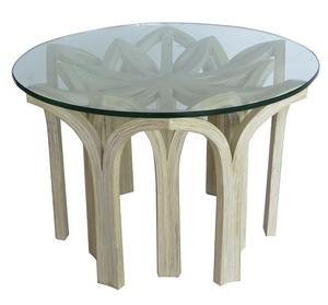 Coffee table made from Thai Bamboo (dendrocolamus asper – pole) with glass top. (Indoor and semi-outdoor).