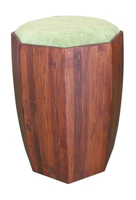 "STUMP stool w. padding - ""cherry"""
