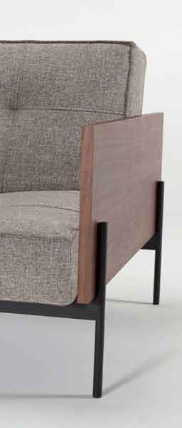 SP sofa legs LAUGE arm, walnut wood