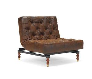 OLDSCHOOL chair RETRO Brown leather look