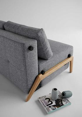 CUBED wood sofa 140