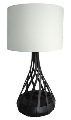 TWIST table lamp, dark brown