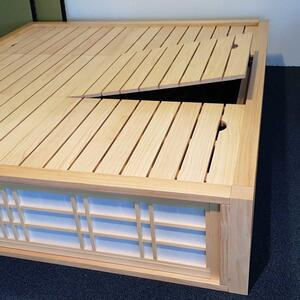 SHOJI Podium bed with storage space