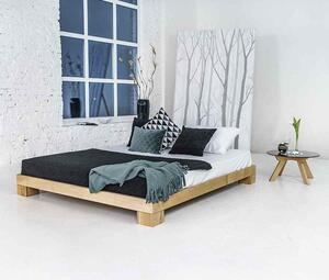 Cube bed frame 120x200 solid beech