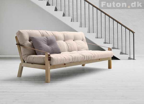 POETRY bed sofa frame. including Futon mattress. manufactures by Karup Design