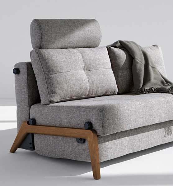 FLIP HEADREST on CUBED SOFA