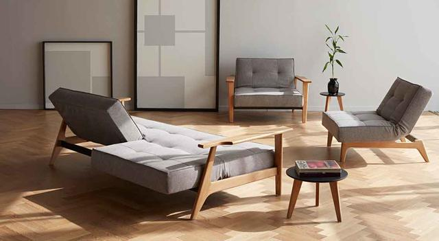SPLITBACK FREJ SOFA & 2 CHAIRS gray