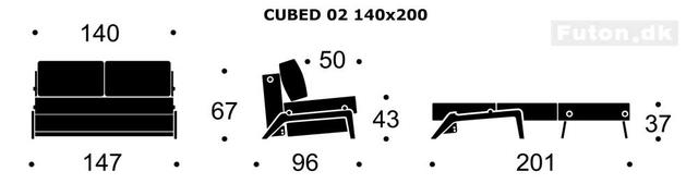 CUBED wood sofa 140 DIY