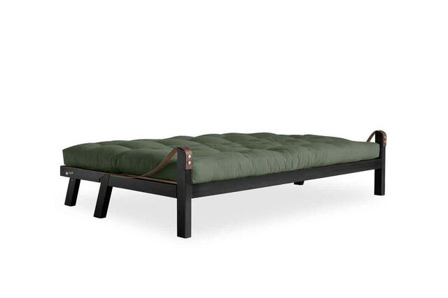 POETRY sofa frame black lacquered. including Futon mattress. manufactures of Karup Design