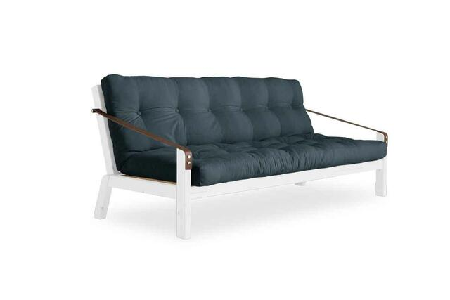 POETRY sofa bed frame white lacquer. including Futon mattress. manufactured in Denmark by Karup Design A / S