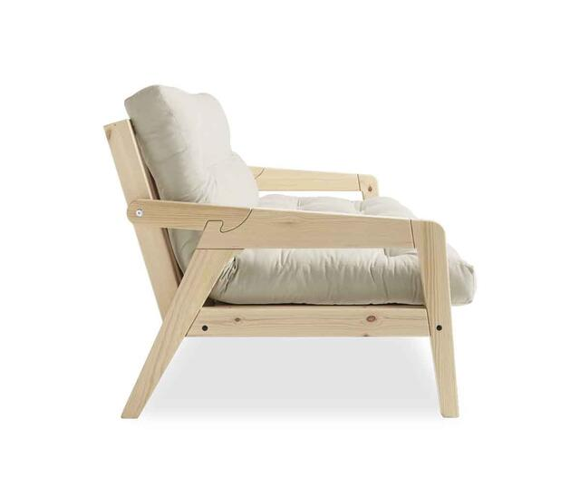 GRAB sofa stel og futon madras med knapper. 
