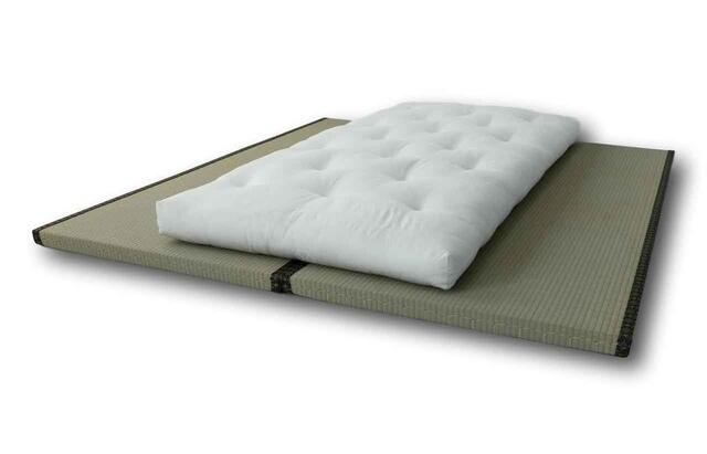 Here is the Futon mattress shown on 2 pieces Tatami